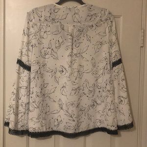 Market & Spruce Tops - Black and White Blouse
